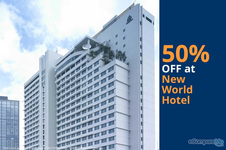 New World Makati Hotel 50% OFF.