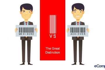 INFOGRAPHIC: Mediocre vs. Achiever: The Great Distinction