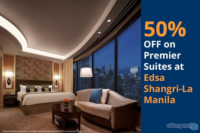 Premier Suites at Edsa Shangri-La Manila 50% OFF