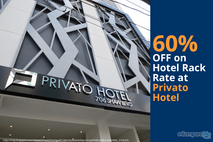 Privato Hotel 60% OFF on Hotel Rack Rate.