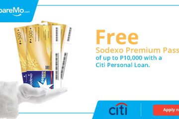 Free Sodexo Premium Passes Of Up To P10,000 When You Get Approved For A Citi Loan