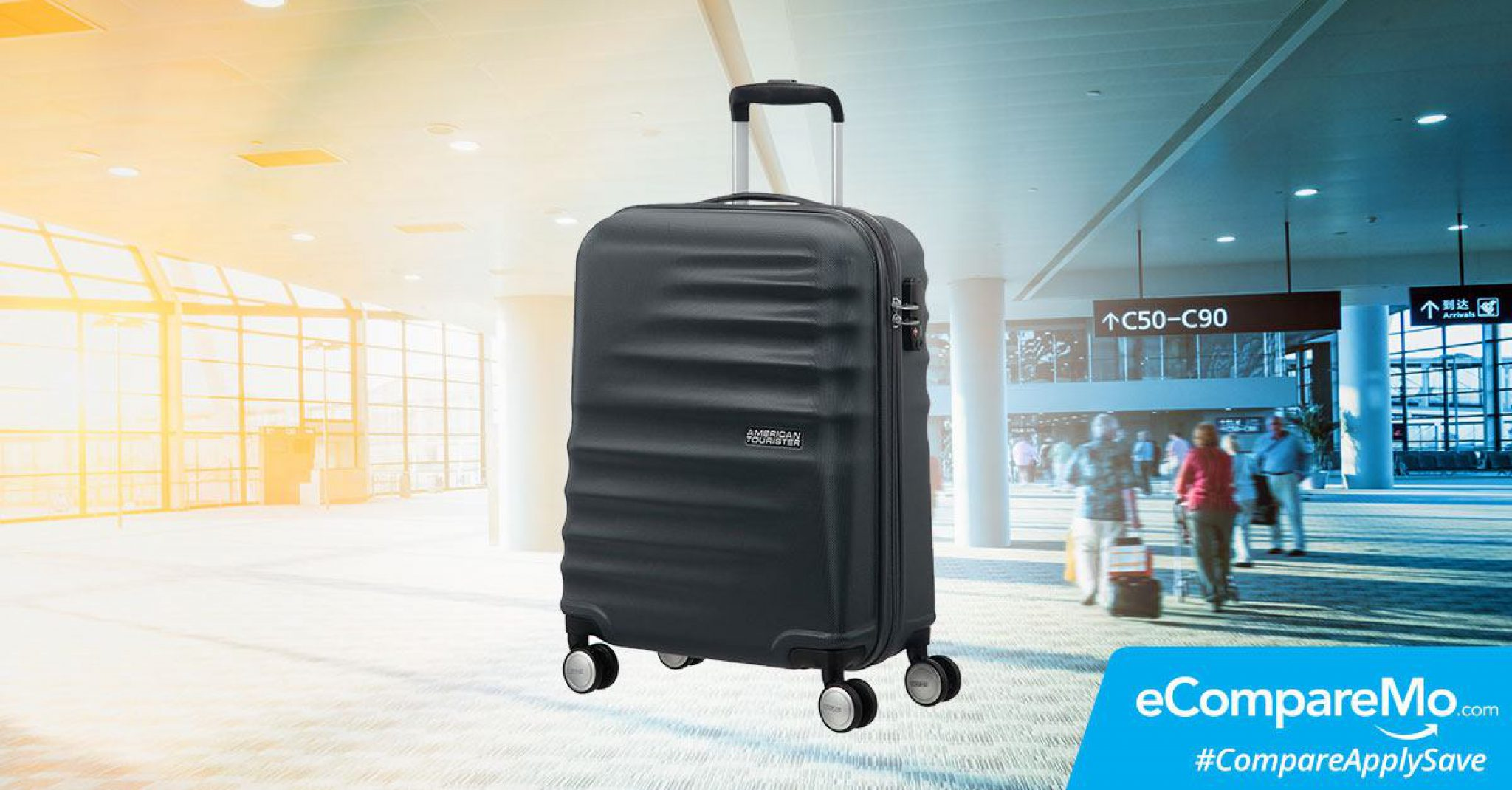 Get A Free American Tourister Spinner Luggage When You Apply