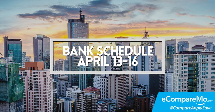 Your Guide To Bank Schedule This Holy Week 2017