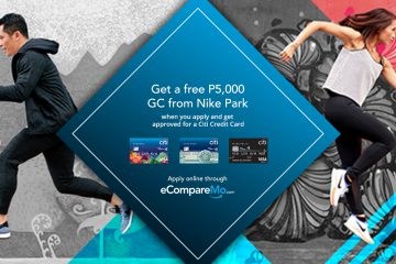 Get A Free P5,000 eGift From Nike Park When You Apply For A New Citi Credit Card