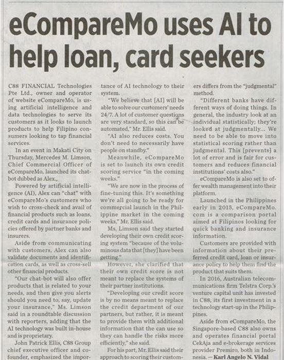 eCompareMo uses AI to help loan, card seekers
