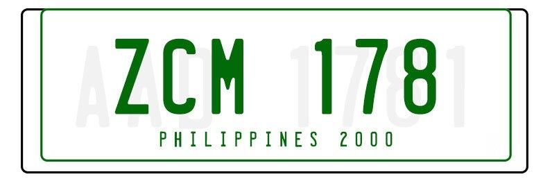 Philippine Licence Plates