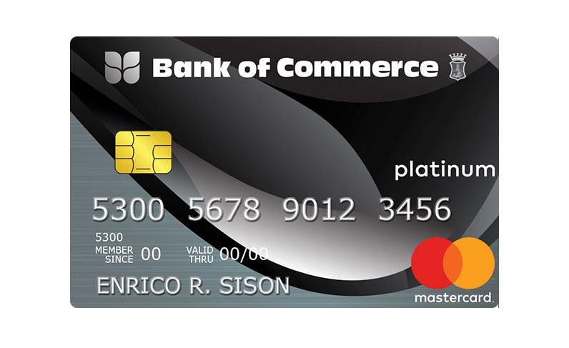 Bank of Commerce Platinum Mastercard