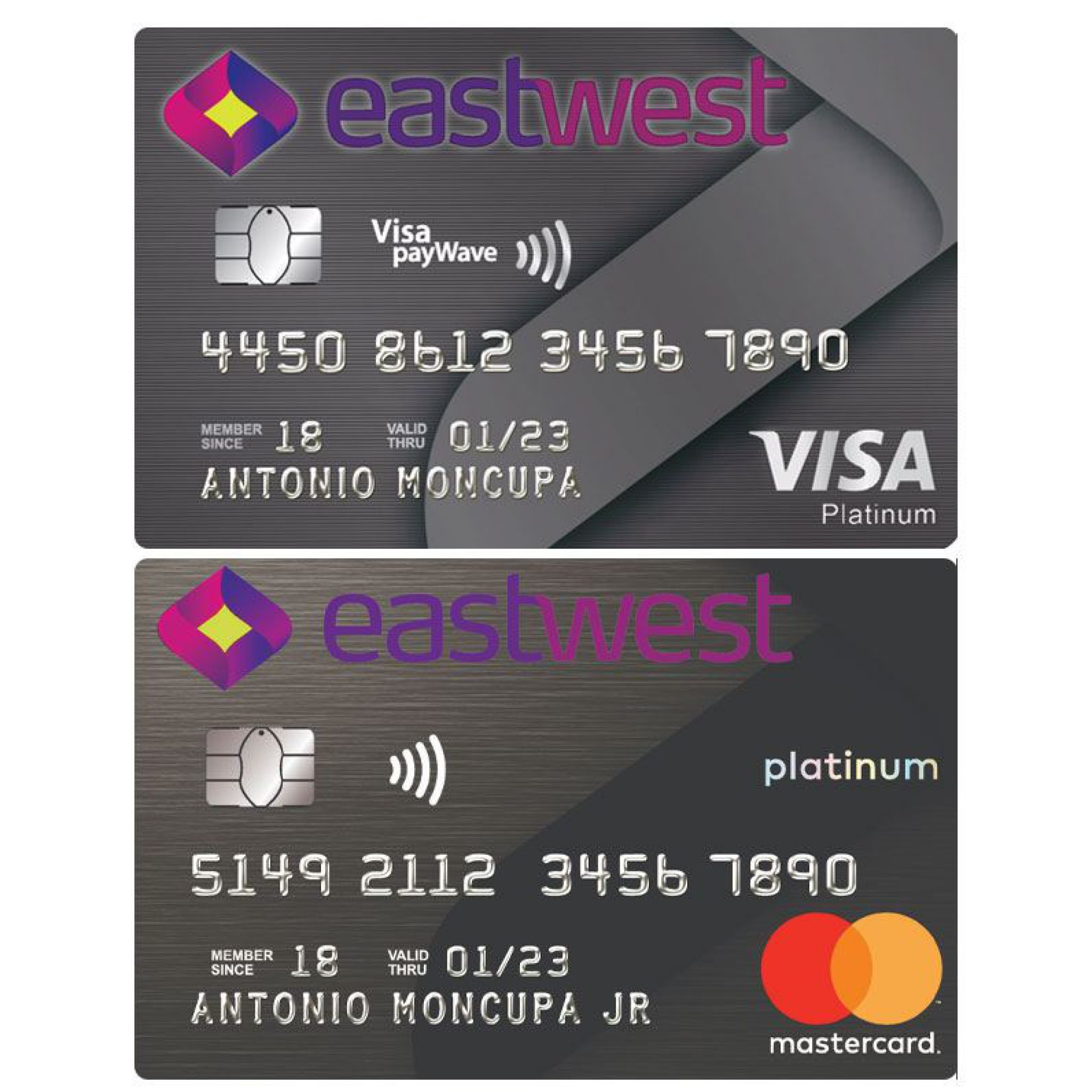 Eastwest Platinum Visa and Mastercard