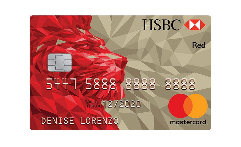 HSBC credit card Red Mastercard