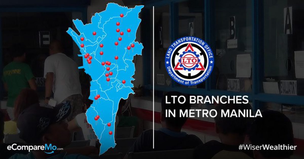 lto main office quezon city map Updated 2019 List Of Lto Branches In Metro Manila Ecomparemo lto main office quezon city map