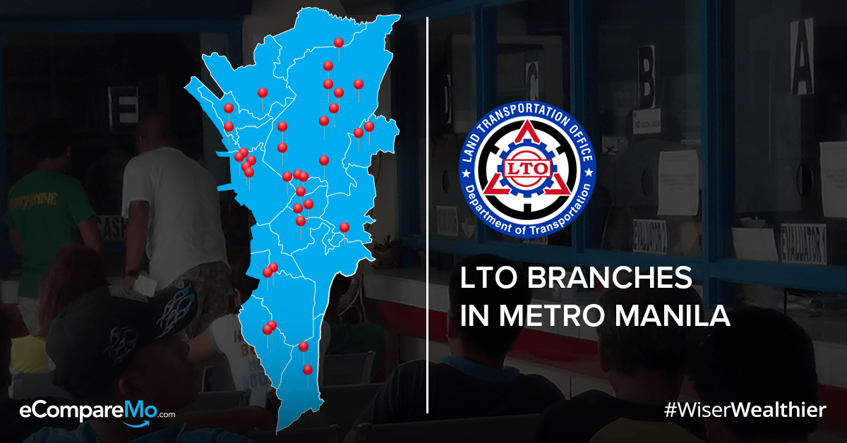 Metro Auto Loan >> Updated 2019 List Of LTO Branches In Metro Manila - eCompareMo