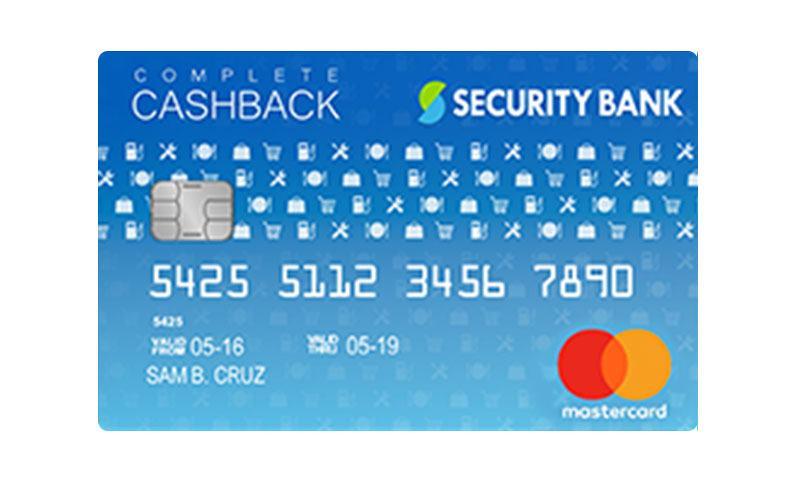 Security Bank Complete Cashback Mastercard