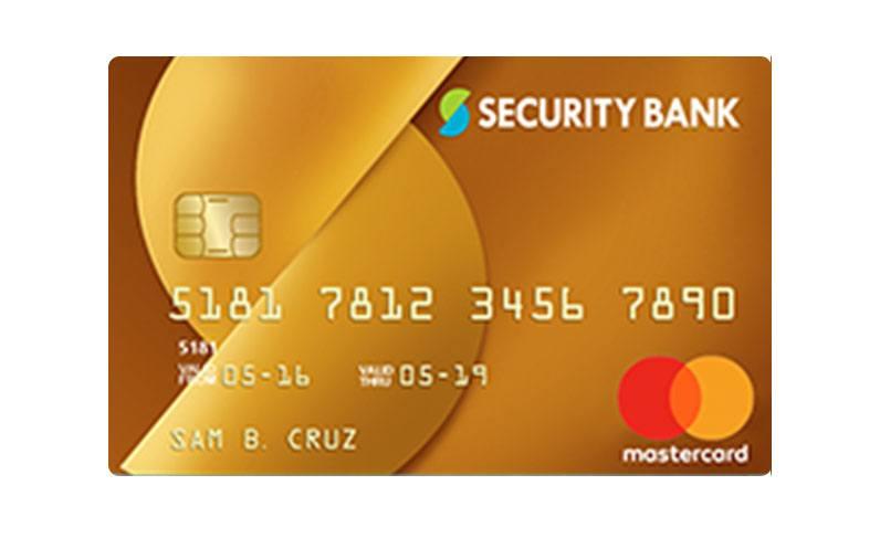 Security Bank Gold Mastercard
