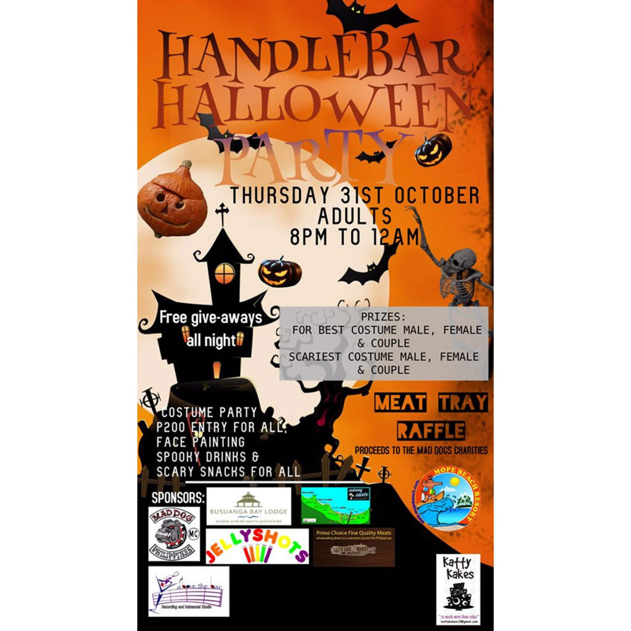 Handlebar and Grill: Adult's Halloween Party