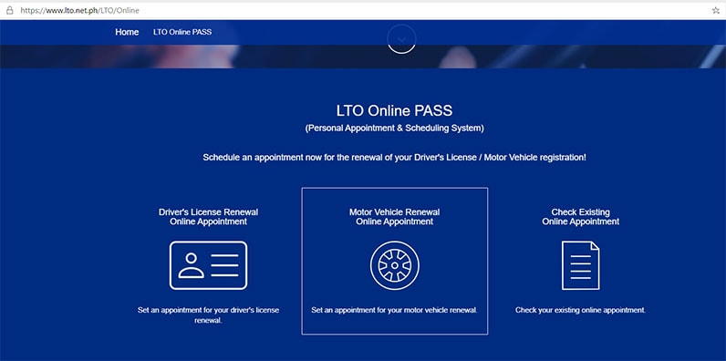 LTO online pass