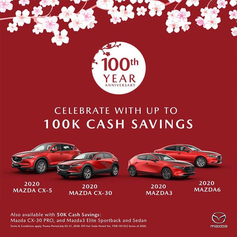 Mazda 100th year anniversary promo
