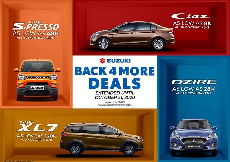 Suzuki Back 4 More Deals