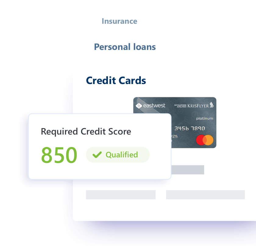 Get personalized offers for credit cards, loans, and insurance