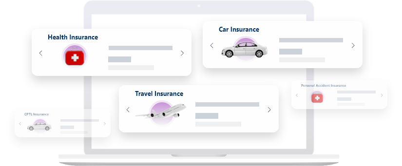 All suitable insurances for car, health, home and accidents in one place