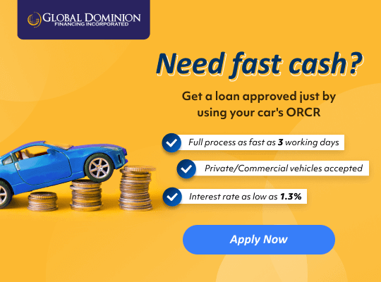 Get a loan approved fast with GDFI ORCR sangla