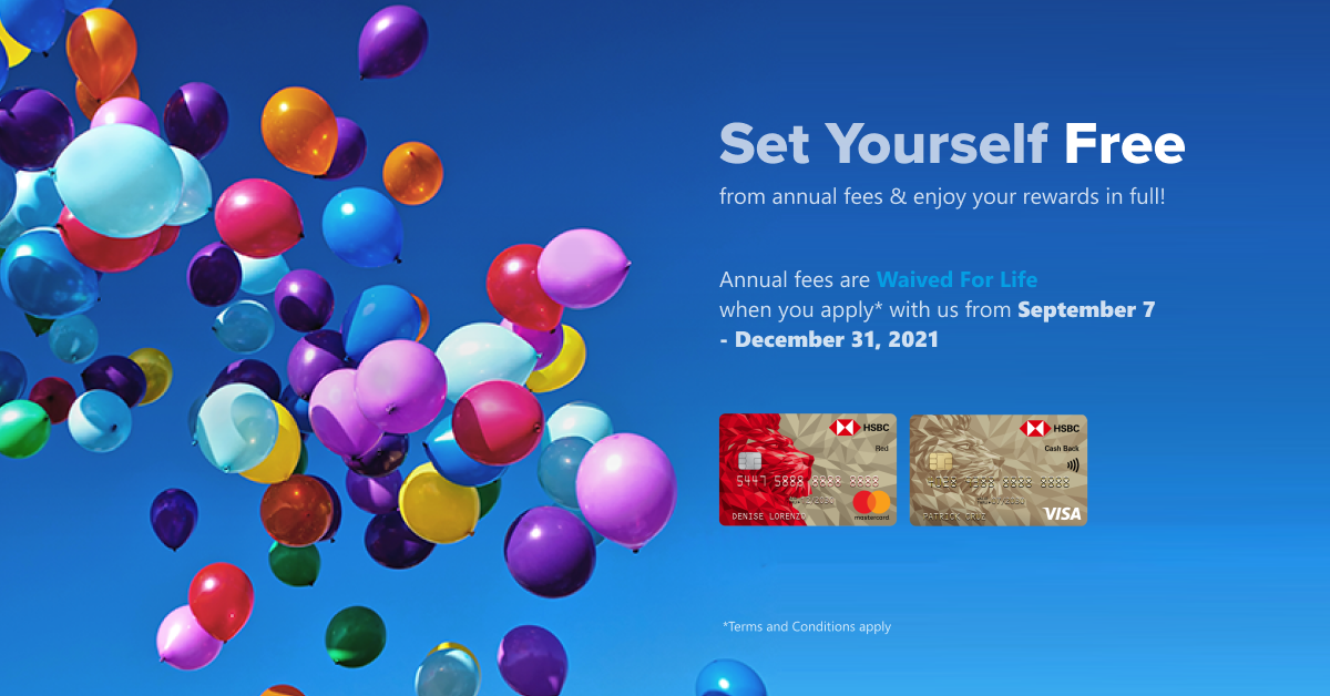 HSBC Credit Card Promo: Waived For Life Annual Fee